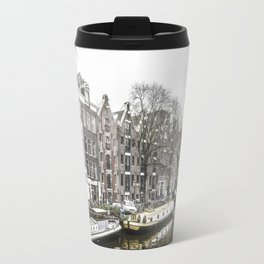 Amsterdam in the Winter Travel Mug