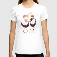 india T-shirts featuring Om India by Eva Nev