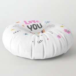 Love you lama Floor Pillow