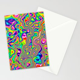 Warped Rainbow Stationery Cards