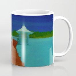 Maldives Travel Poster Coffee Mug