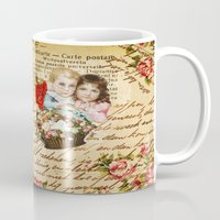 shabby chic Mugs featuring Shabby Chic by Diego Tirigall