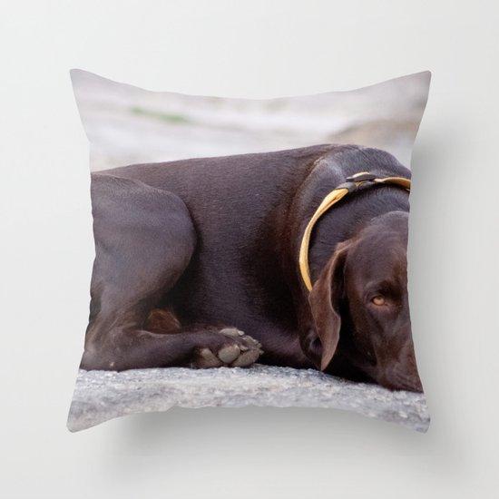 the hound dog Throw Pillow