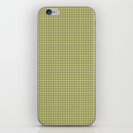 Olive Gingham iPhone Skin