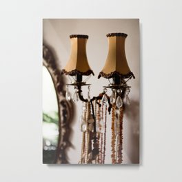 Decorative retro night lamp Metal Print