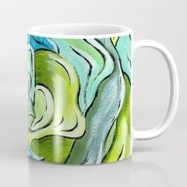Floral in Green & Blue Coffee Mug