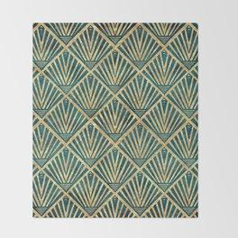 Stylish geometric diamond palm art deco inspired Throw Blanket
