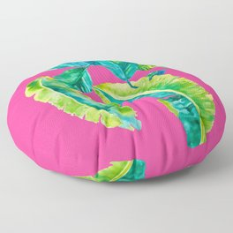 Hot Pink Palms Floor Pillow