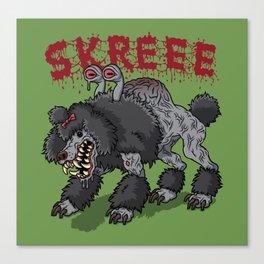 Parasite Poodle Canvas Print