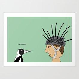 Magpie Season Art Print
