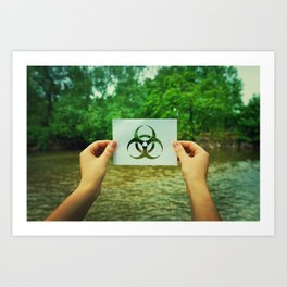 holding infection symbol Art Print
