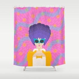 Modern Marie Antoinette Shower Curtain