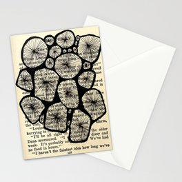 nature and letters in bloom Stationery Cards