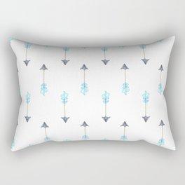Blue Arrow Rectangular Pillow