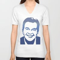 dick V-neck T-shirts featuring Dick Clark by PSimages