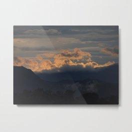 Laos Sunset Metal Print