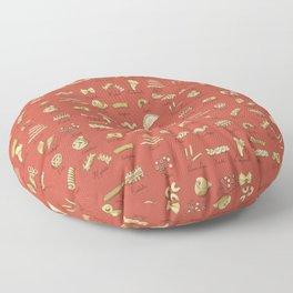 Italian Pasta Shapes Floor Pillow