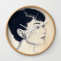 audrey (watercolor) Wall Clock