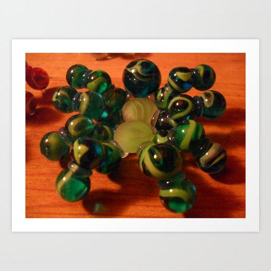 Green Spider Art Print