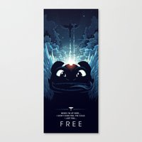 how to train your dragon Canvas Prints featuring How To Train Your Dragon 2 - Freedom by Hyperlixir