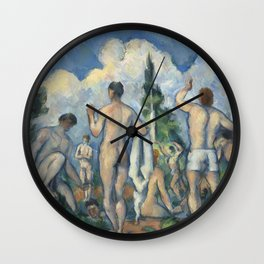 Paul Cézanne - Bathers, 1890 Wall Clock