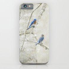 Bluebirds in Spring iPhone 6s Slim Case