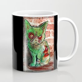 Mean Green Cute Zombie Cat Coffee Mug