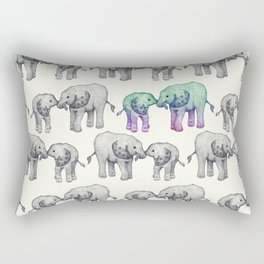 Born to Stand Out - a cute elephant pattern  Rectangular Pillow