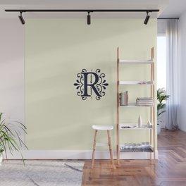 Monogram Letter R in Dark Blue Wall Mural