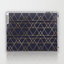 Modern Gold Navy Blue Laptop & iPad Skin