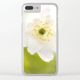 Gentle Beauty Of Nature White Anemone #decor #society6 Clear iPhone Case