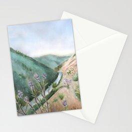 Burma Grade Merced River Mixed Media California Landscape  Stationery Cards