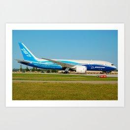 Boeing 787-800 Dreamliner Art Print