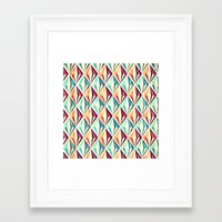 diamonds Framed Art Prints featuring Diamonds by VessDSign