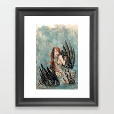 Drawing out the Night Framed Art Print