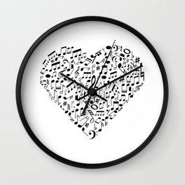 I Love Music | Musical Symbols Musician Wall Clock