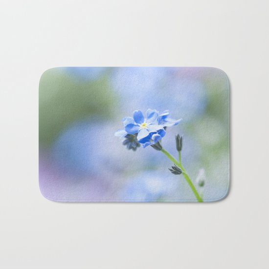 Forget-me-not in LOVE - Springflower Flowers Floral on #Society6 Bath Mat