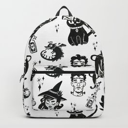 Witches, Cauldron and Cats Pattern Backpack