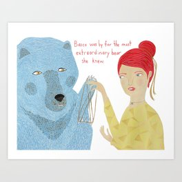 Basco the Extraordinary Bear Art Print