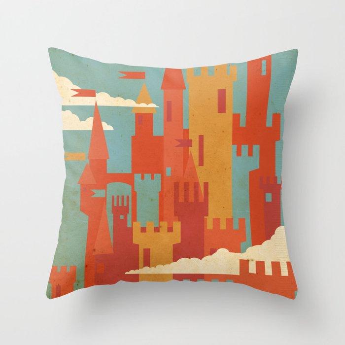 Castles  Throw Pillow