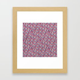 Geometric Labyrinth Red And Blue Framed Art Print
