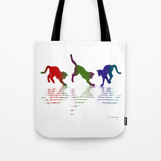 CATS RAINBOW II Tote Bag