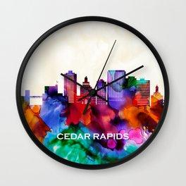 Cedar Rapids Skyline Wall Clock