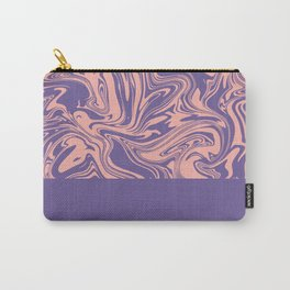 Liquid Swirl - Peach Bud and Ultra Violet Carry-All Pouch