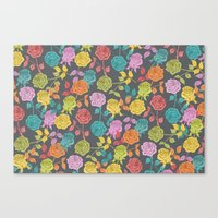 roses Canvas Prints featuring ROSES by Bianca Green