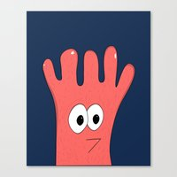 greg guillemin Canvas Prints featuring Monster Greg by Chelsea Herrick