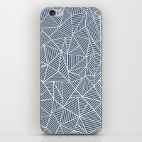Ab Lines Navy and White iPhone & iPod Skin
