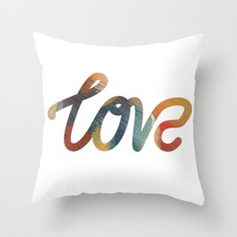 "The Love Series #17 - ""Love"" (typography) Throw Pillow"