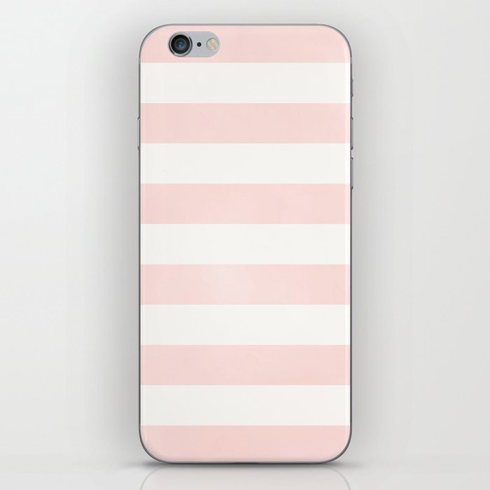 Pink Coral Stripes iPhone Skin