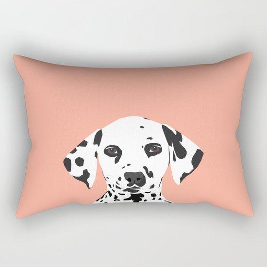 Casey - Dalmation art print phone case decor for pet lover and dog lover Rectangular Pillow